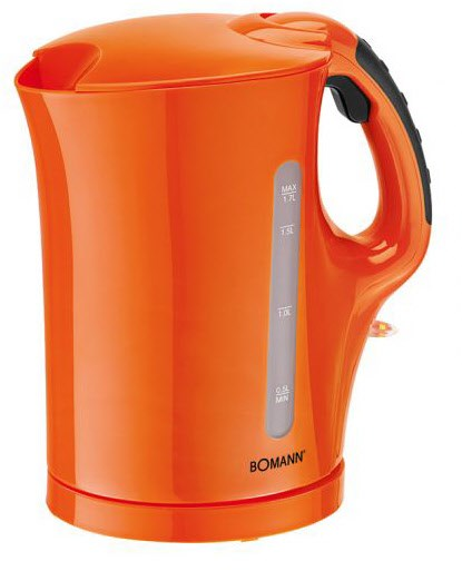 Bomann WK 5011 CB Wasserkocher Cordless orange